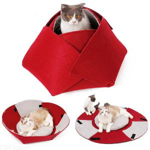 Cat House Indoor Cat Cave Bed Collapsible Pet House Warming Beds for Small Dog/Cats/Puppy with Soft Carpet Kittens Toy