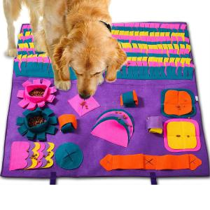 Dog Food Mat Snuffle Mat, Dog Toy Mat, Slow Feeding Mat, Nose Work Mat for Dogs, Interactive Puzzle Toys Feeder for Dogs