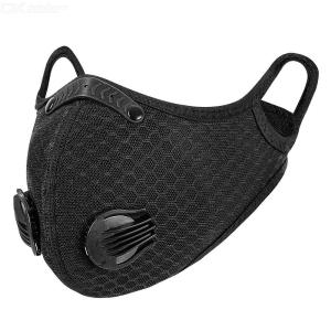KN95 Face Mask 5-layer Shield Double Activated Carbon Breathing Valve Mouth Mask Anti Smog Strong Protection