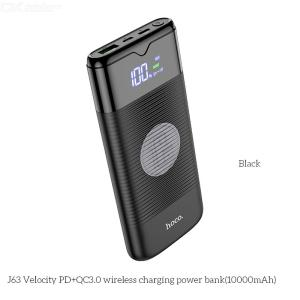 J63 Portable Power Bank 10000mAh Wireless Wired External Battery Portable Charger