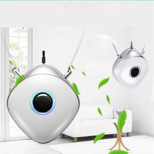 Mobile Electronic Mask Wearable Air Purifier Necklace to Eliminate PM2.5 Bacteria Purify the Air