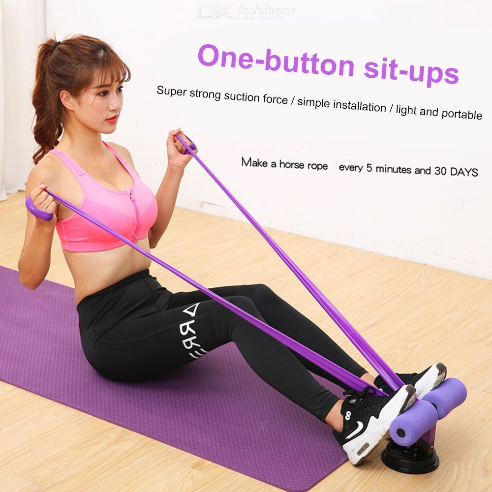 Portable Sit-Up Device, Household Self-Suction Situp Bar Body Stretching Trainer Health Abdominal Device For Men Women