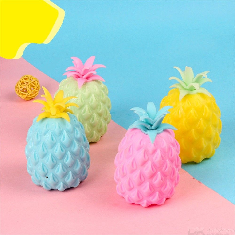 1PC Cute Pineapple Shape Decompression Toy Creative Squeeze Ball For Children Adult