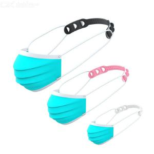 5PCS Multifunction Plastic Mask Ear Hooks Adjustable Extension Buckle For All Kinds Of Masks - Random Color
