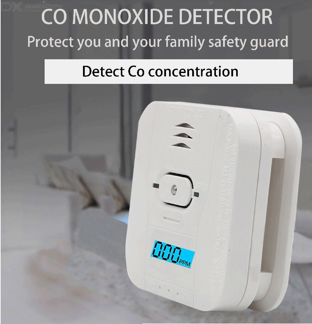 3-in-1 Carbon Monoxide Smoke Temperature Detector, CO Smoke Heat Alarm