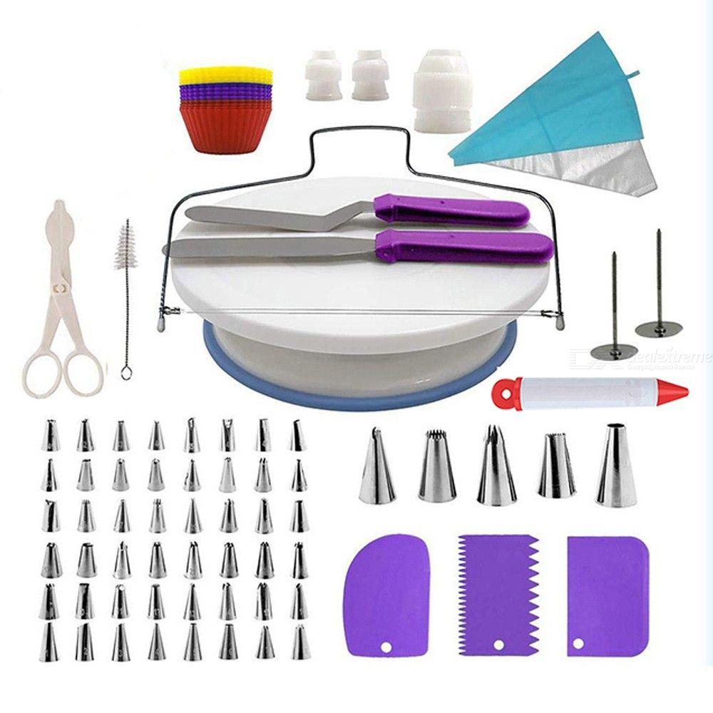 106Pcs Baking Tools For Cakes Baking Set Cake Stand Pastry Nozzles Set Cake Decorating Tools Bakeware