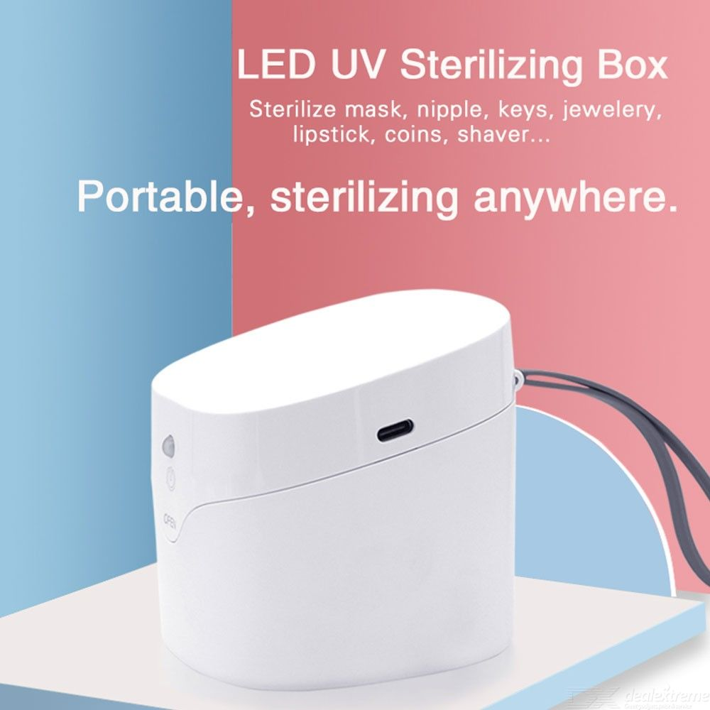 Portable UVC Sterilizer Box For Face Mask Auto UV Lights Disinfection Mouth Mask Clean Container