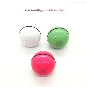 Cat Toys Ball LED Glow USB Rechargeable Smart Interactive Cats Amusement Toy