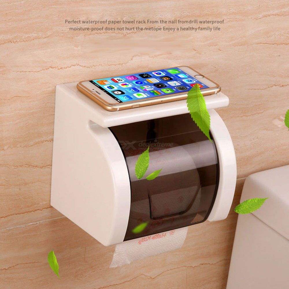 Household Toilet Tissue Box Non-punching Waterproof Roll Paper Holder