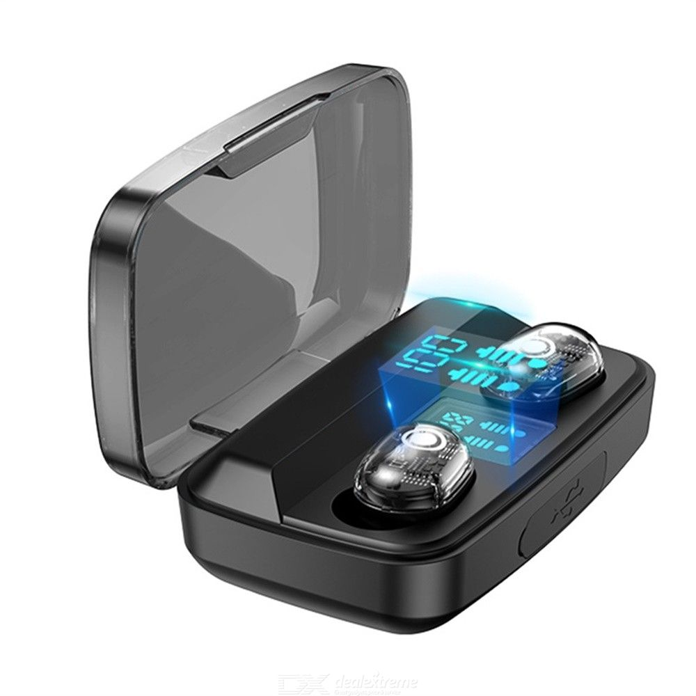 Bluetooth 5.0 Wireless Earbuds Waterproof Noise Canceling Stereo TWS Bluetooth Earphones With Mic Charging Case Digital Display