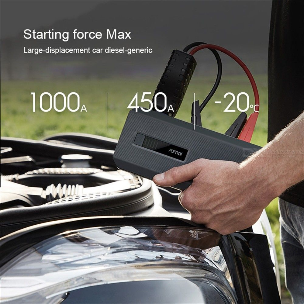 70mai Car Jump Starter 18000mAh Battery Power Bank Car Starter Auto Buster Car Emergency Booster Battery MAX 12V