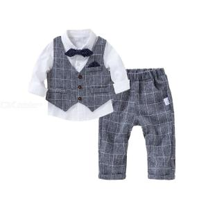 Three-piece Childrens Clothing Set Fashion Boys Host Performance Uniform Suit
