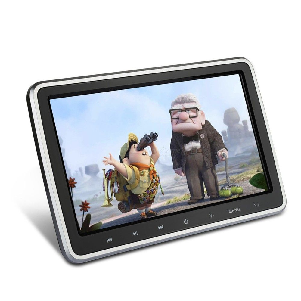 10.1 Inch Headrest Monitor Screen, Car Headrest DVD Supports Video Playback Games
