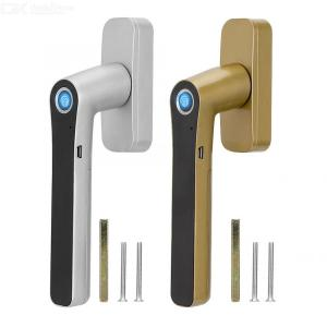 WAFU Smart Fingerprint Window Lock, Zinc Alloy Electronic Fingerprint Handle Lock