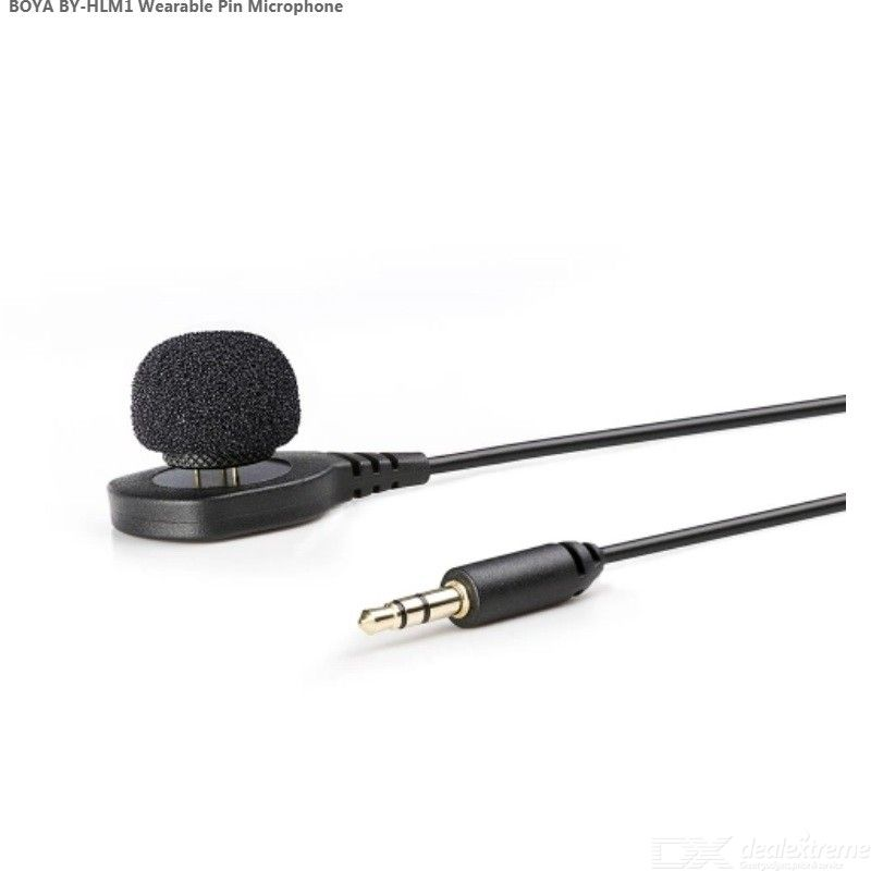 BOYA BY-HLM1 Wearable Pin Microphone Omnidirection Conderser Lavalier Mic / 3.5mm Plug / for Canon / Nikon / Sony Panasonic