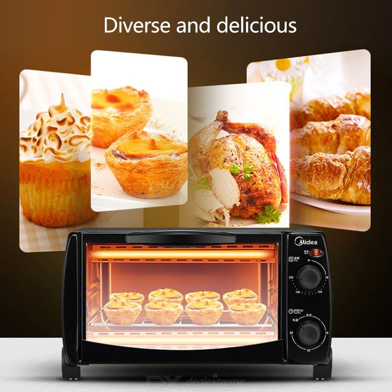 Midea T1-L108B Mini Oven 10L Toaster Oven Electric Oven With Temperature Setting 70-230°C And 30 Mins Timer