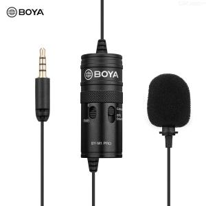 BOYA BY-M1 Pro Lavalier Microphone Clip-on Condenser Mic Wired 3.5mm Studio Mic for Smartphone Mac Vlog DSLR Camcorder Audio