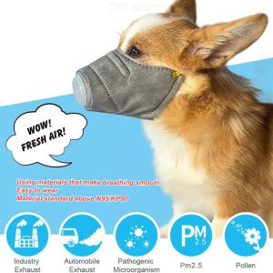 Dustproof Dog Face Mouth Mask Anti-fog Pet Respiratory Protector