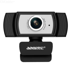 Aoni C33 Clip-On HD 8.0MP PC Webcam Computer Camera With Microphone For Video Conference Online Learning Live Broadcast