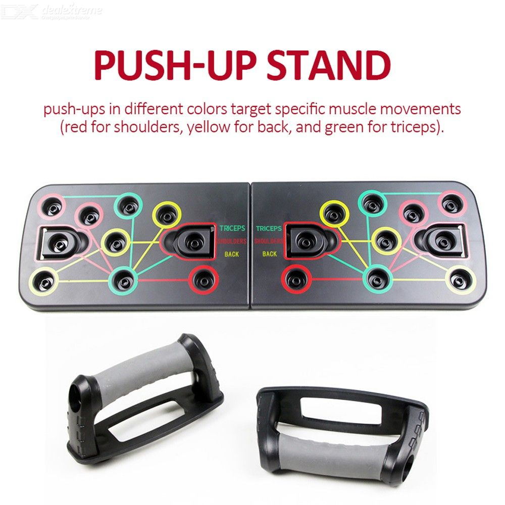 Unisex Push Up Rack I-shaped Push-up Stand Board Exercise Fitness Equipment Body Building Tool For Home