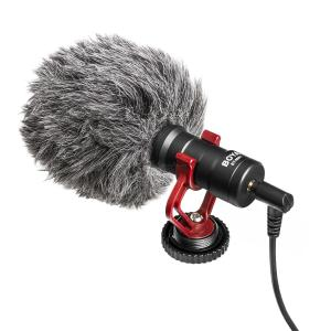 BOYA BY-MM1 Mini Cardioid Microphone Metal Electret Condensor Video Mic 3.5mm Plug for iPhone 6/ 6plus for Samsung Huawei Smartp