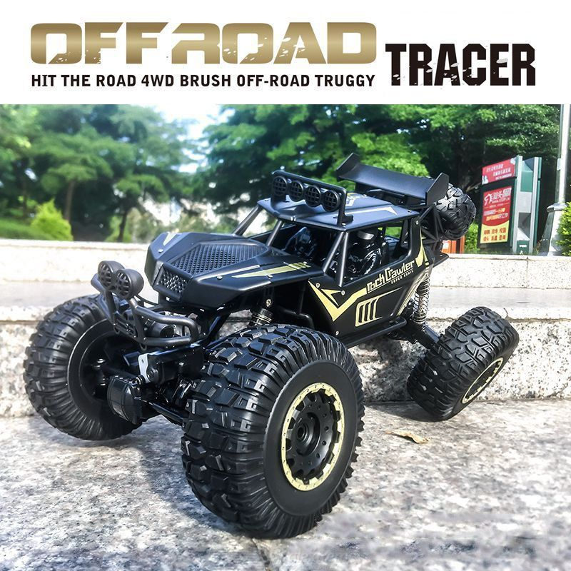 1/8 RC Car Large Crawler Truck 2.4GHz 4WD Rechargeable Powerful Off-Road Toys Buggy Vehicle Kids Gift