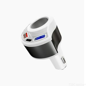Car Fast Charging QC3.0 USB + type-C + Cigarette Lighter multi-function vehicle fast charging