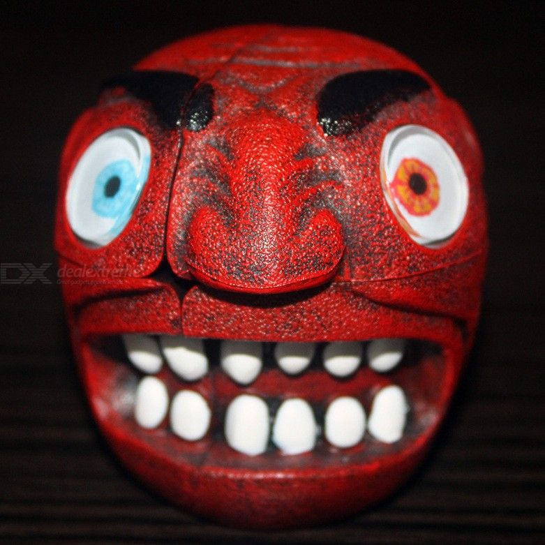 Maozhong Red Skull Alien Second-Order Cube Red Devil Red Devil Head Cube