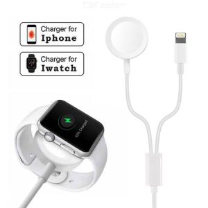 IPhone 8pin + iWatch watch Wireless Charging for iPhone Iwatch Series 5 / 4 / 3 / 2 / 1