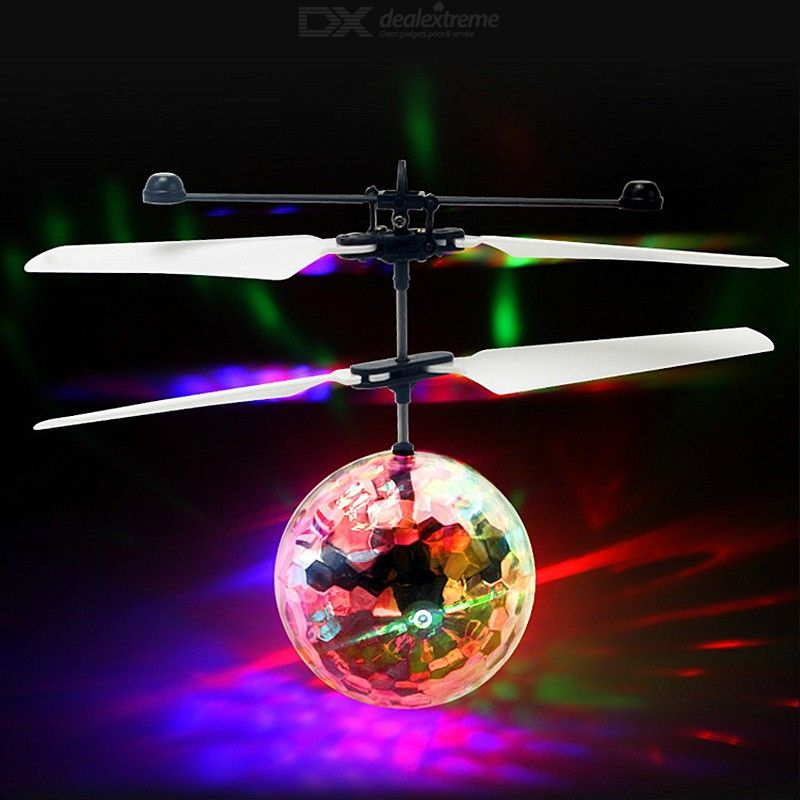 Rechargeable Gestures Induction Flying Ball with Colorful LED / Disco Music