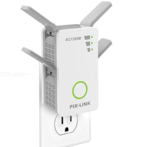 1200Mbps Router WiFi Extender Signal Booster Wireless Repeater Dual Band 2.4/5GHz Wi-Fi Range Plug in Home