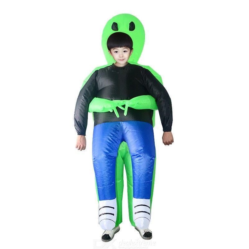 ET-Alien Inflatable Monster Costume Scary Green Alien Cosplay Costume For Adult Halloween Party Festival Stage