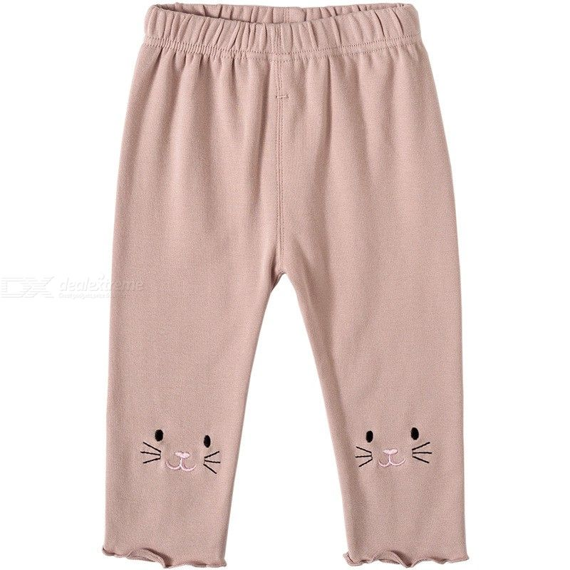 Baby Cotton Pants Cute Kitten Infant Bottoms For 0 To 4 Years Old