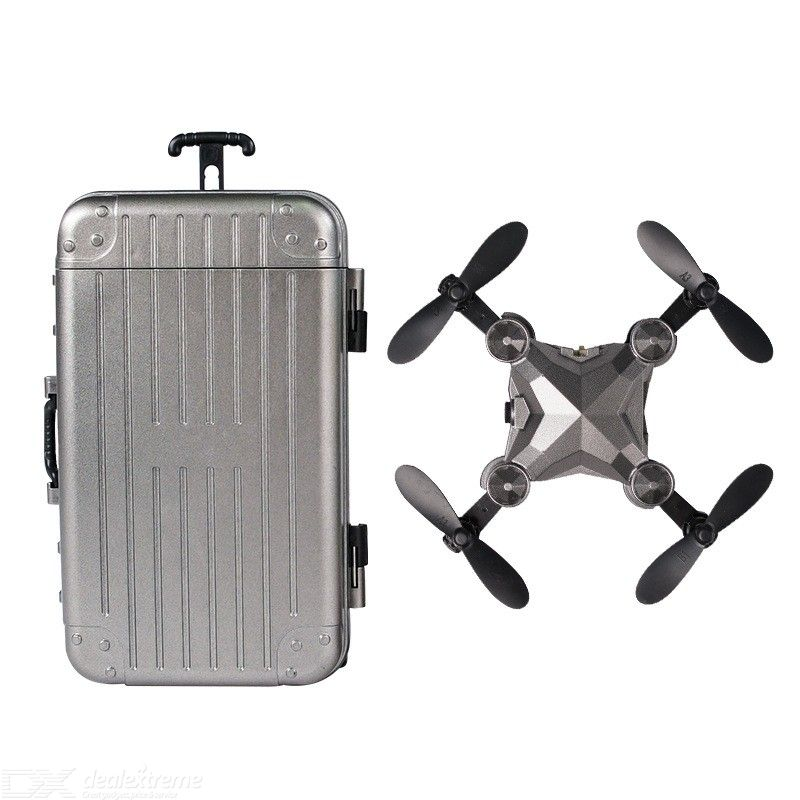 RC Drone Foldable Mini Palm Suitcase FPV Portable Quadcopter With 2.4G WIFI HD Camera