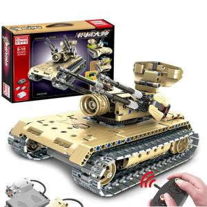 RC Tank DIY Remote Control Military Car Building Block Toys For Children