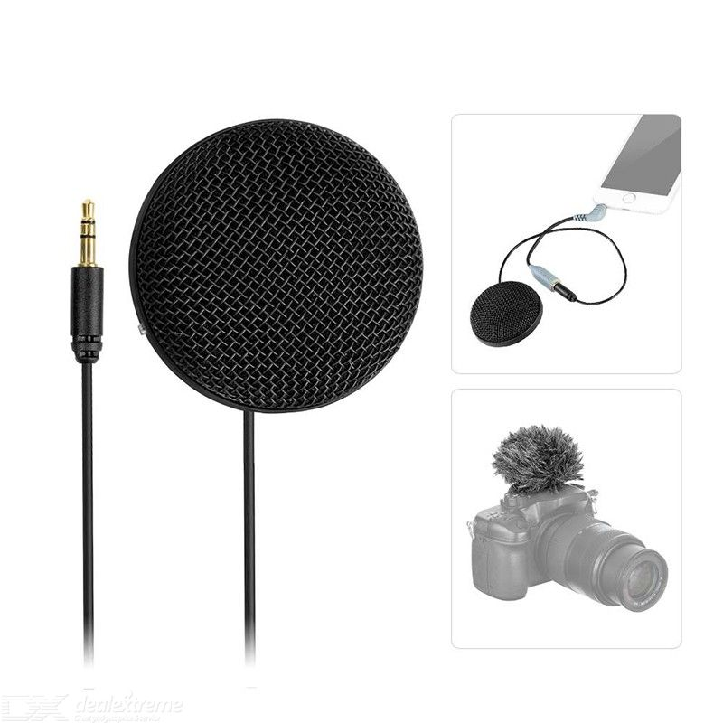 BOYA BY-MM2 Mini Microphone Stereo Omnidirectional Conderser with Furry Windscreen for DSLR Camera Smartphone PC Tablet
