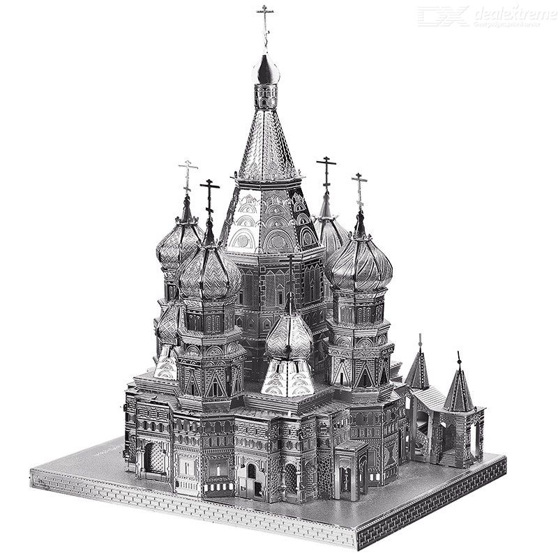 DIY 3D Metal Assembly Model Vasily Cathedral Educational Toy Puzzle for Kids Adults