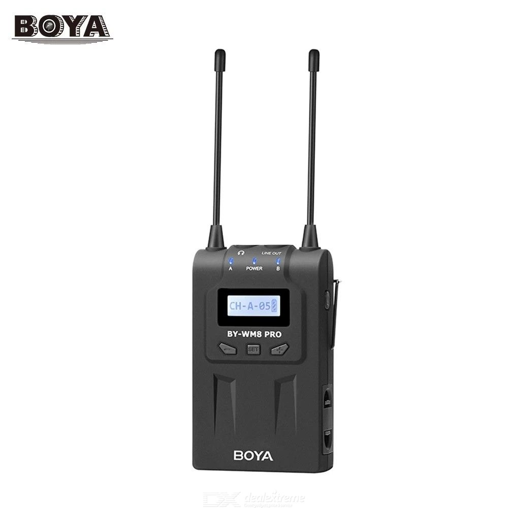 BOYO BY-RX8 Pro BOYA UHF Dual-Channel 48 Channels Receiver with LCD Display