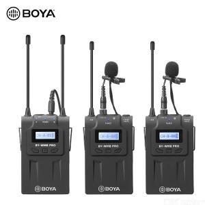 BOYA BY-WM8 Pro-K2 UHF Dual-Channel Wireless Microphone System Receiver+Transmitter A+Transmitter B with LCD Display Screen