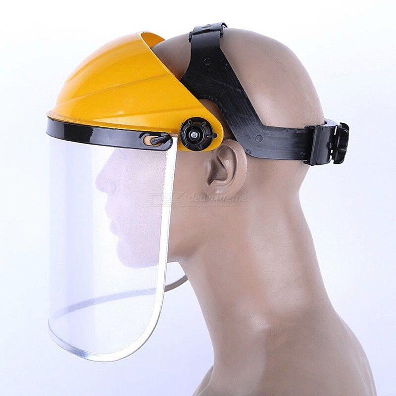 Universal Headwear Transparent Face Mask Shield for Heat Insulation / Anti-splash / Prevent Wind Sand