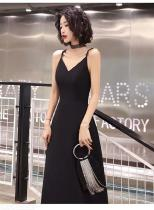 Women's Evening Gowns Sexy Elegant High Waist V-neck Wing Straps Maxi Dresses for Cocktail Party Prom Banquet Performance