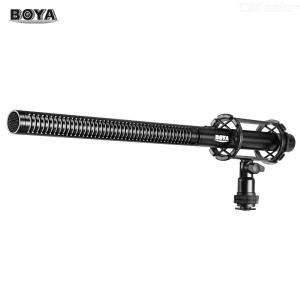 BOYA BY-PVM1000L Professional Condenser Microphone 3-Pin XLR Super-Cardioid Directional Mic with Shock Mount Wind Muff for Cam