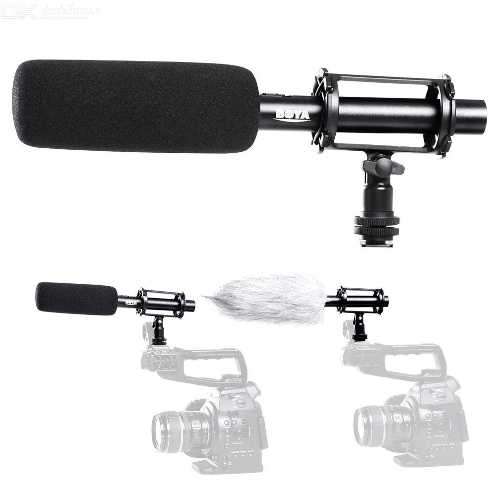 BOYA BY-PVM1000 Condenser Microphone with 3-pin XLR Output for DSLR Camera