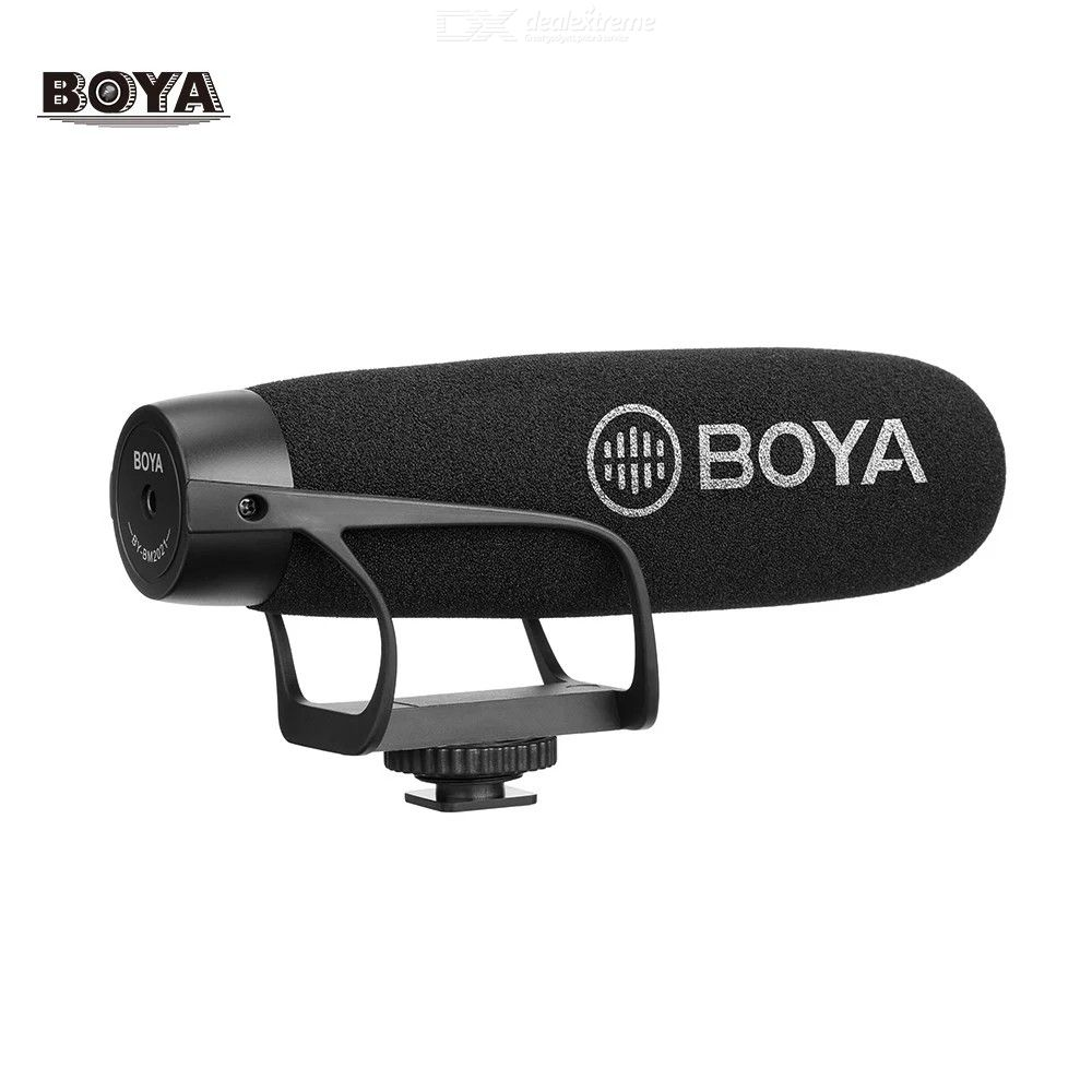 BOYA BY-BM2021 Lightweight Super Cardioid Video Shotgun Microphone for Smartphone DSLR Cameras Camcorders PC Audio Recording