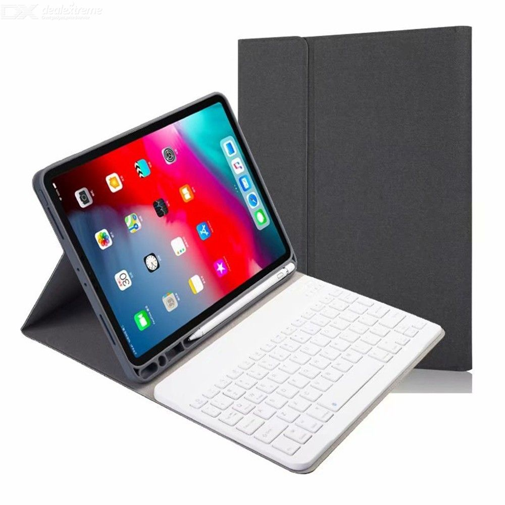 CHUMDIY Removable Wireless Bluetooth V3.0 Keyboard Protective Case with Stand for iPad Pro 11 2020