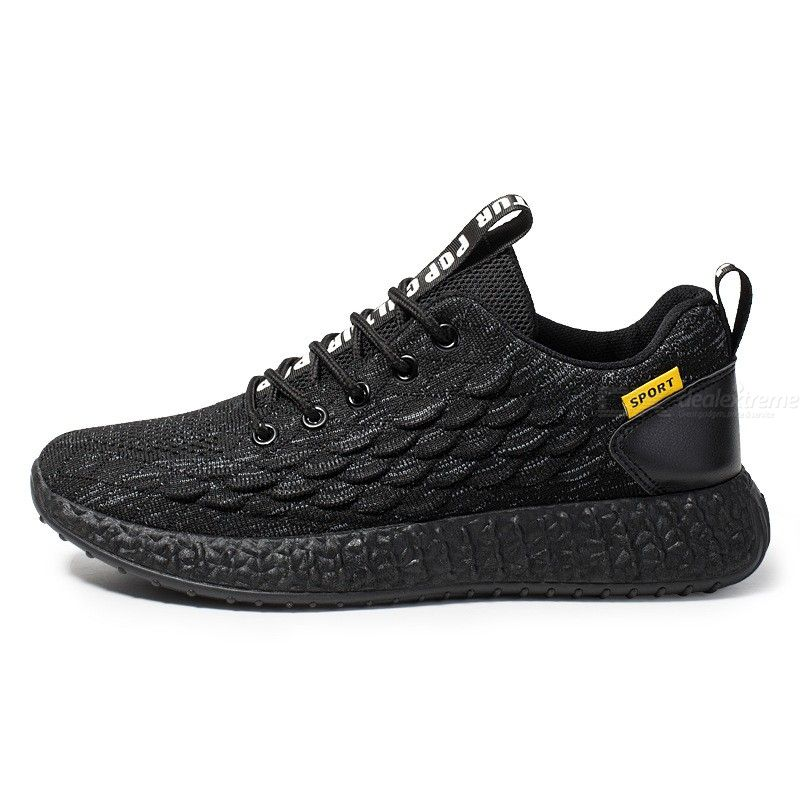 Fashion Men Low Top Lace Up Sneakers Breathable Lightweight Sports Running Shoes