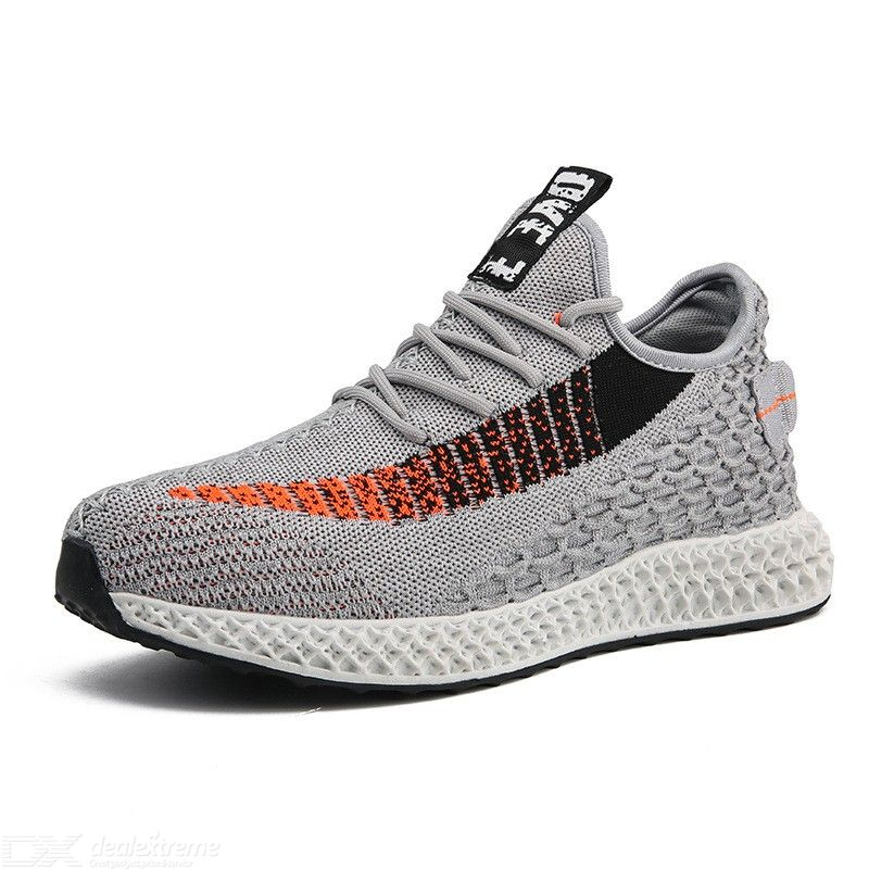 Mens Casual Sneakers Adult Fashionable Breathable Low-Top Trainers Running Shoes
