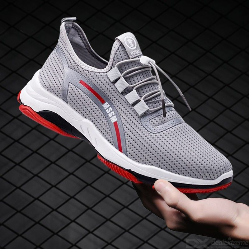 Mens Casual Sneakers Adult Summer Lightweight Breathable Low-Top Trainers Shock-absorbent Running Shoes...