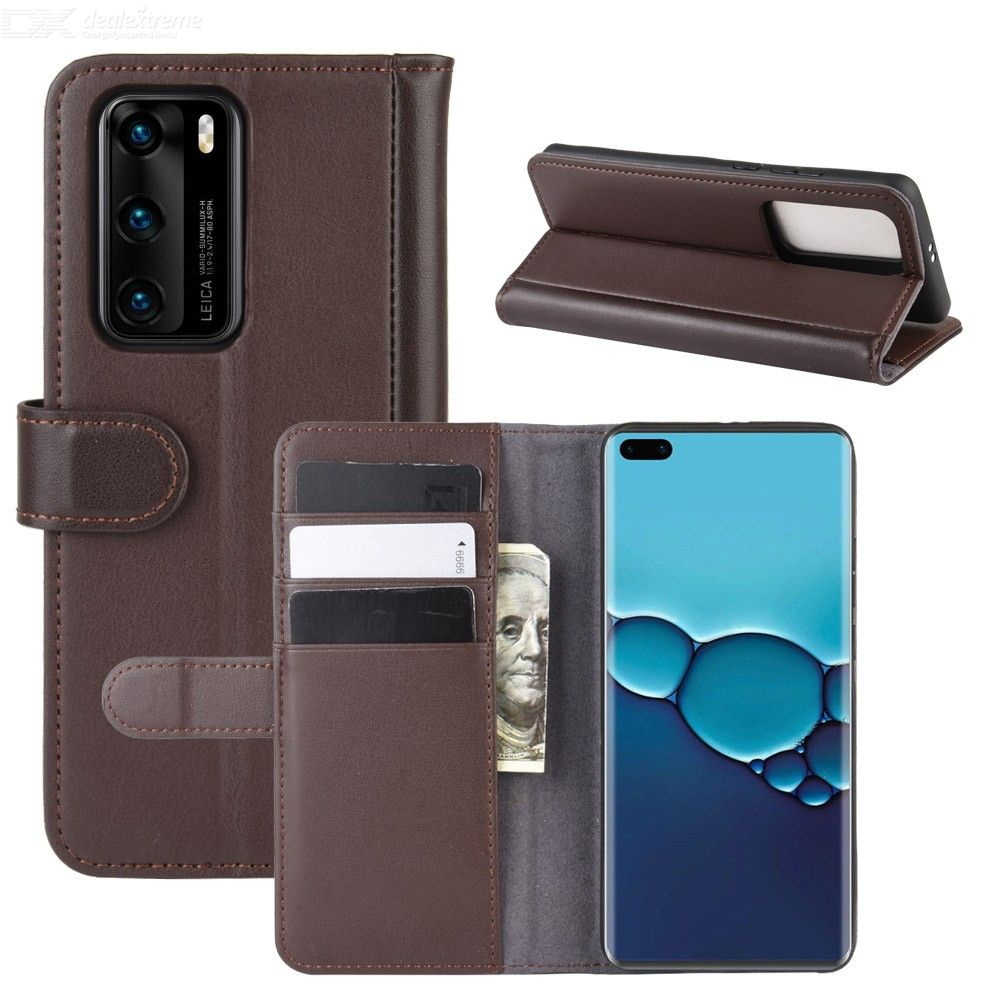 CHUMDIY Flip Case for Huawei P40 PU Leather Wallet Phone Case Cover with Kickstand Function Card Cash Holder