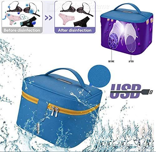 U V Sterilizer Box,Portable LED Dis Infection Storage Bag Waterproof Ultraviolet Light Pack with USB Cable Cleaner for Baby Bott